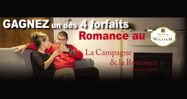 Forfaits Romance pour deux au Manoir du lac William