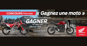 Gagnez une Motocyclette Honda 2019 au choix