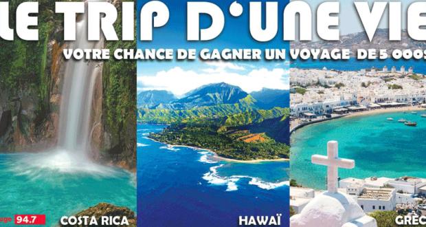 Voyage pour 2 personnes en GRÈCE - COSTA RICA ou HAWAÏ