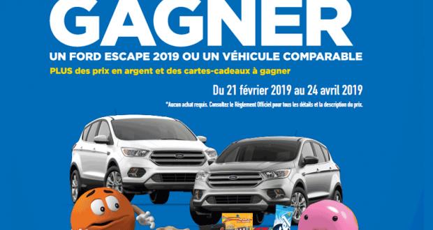 Gagnez 2 Véhicules FORD ESCAPE SE 2019 (35 000 $)