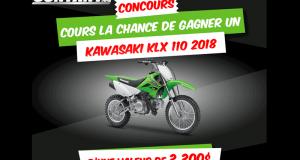 Gagnez un Kawasaki KLX 110 2018 d'une valeur de 3300$