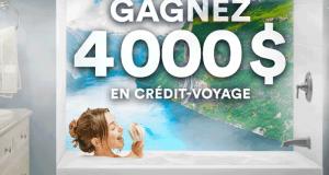 Gagnez un crédit-voyage de 4000 $