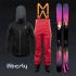 Salopette - manteau et skis