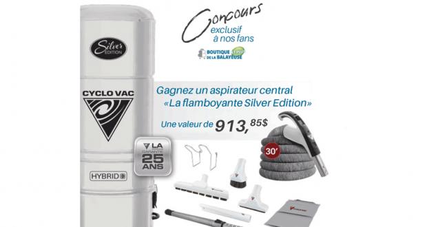 Un aspirateur central de Cyclo Vac (Valeur de 913,85 $)