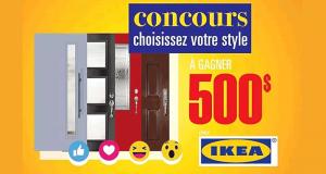 Une carte cadeau de 500$ à dépenser chez IKEA