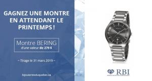 Une montre Bering pour homme d'une valeur de 279$