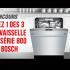 1 des 3 lave-vaisselle de la Série 800 de Bosch (2849$ chacun)