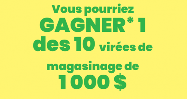 10 Cartes-cadeaux Shoppers Drug Mart / Pharmaprix de 1 000$