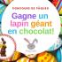 Un lapin GÉANT en chocolat de 3600g