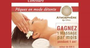 Un massage par mois pendant Un an