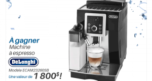 Une machine à espresso De'Longhi automatique (1800$)