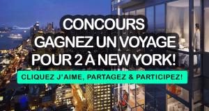 Voyage pour 2 personnes à New-York (Valeur de 3000$)
