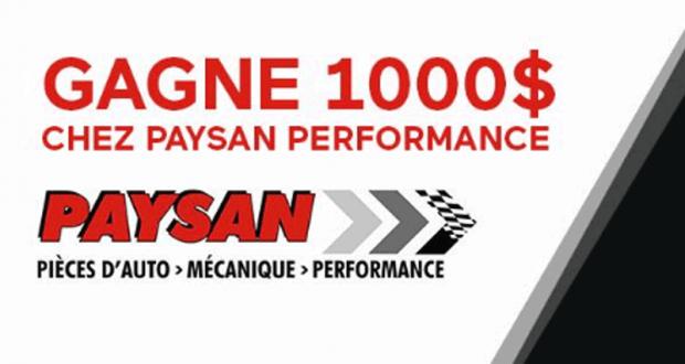 1 000 $ chez Paysan Performance