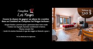 Séjour pour 2 dans un condo-hôtel au Complexe les Neiges