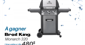 Un Broil King BBQ MONARCH 320 d'une valeur de 480$