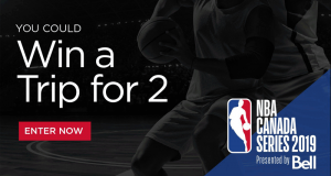 Voyage pour voir NBA Canada Series 2019