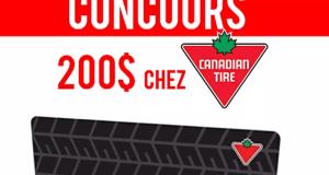 Carte-cadeau de 200$ chez Canadian Tire