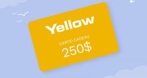Cartes-cadeaux Chaussures Yellow de 250$ chacune