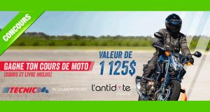 Cours de moto valeur de 1125$