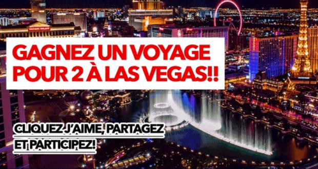 Gagnez Un voyage pour deux (2) personnes à Las Vegas