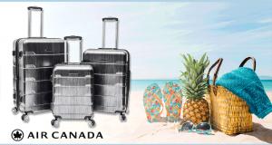 Un ensemble de 3 valises à roulettes