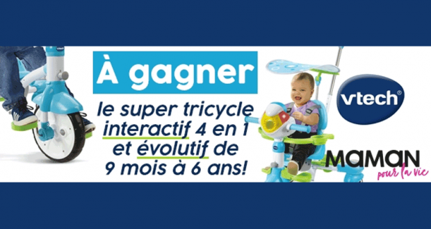 Un super tricycle interactif de Vtech