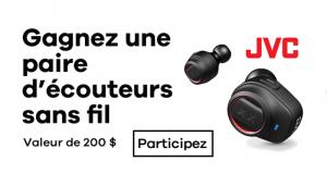 Une paire d'écouteurs sans fil HA-XC70BT de JVC