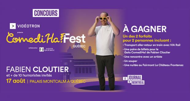 2 séjours à Québec pour assister au Gala ComediHa!