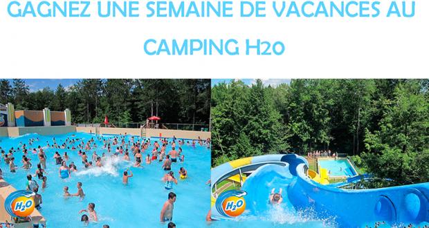 Gagnez une semaine de vacances au Camping H20
