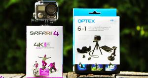 Une caméra d'action Safari 4k