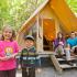 Une nuitée en tente prêt-à-camper pour 4 personnes + une activité