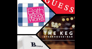 4 Cartes cadeaux : Guess - Browns - The keg steak house - Bath & body