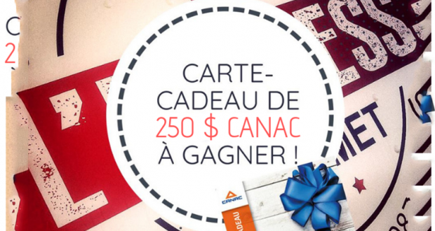 Carte-cadeau Canac de 250$