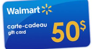 Carte cadeau Walmart de 50 $