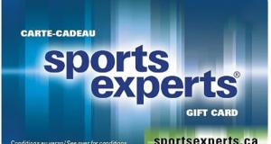 Carte-cadeau de 1 000$ dans les magasins Sports Experts