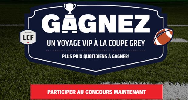 Gagnez un voyage VIP à la Coupe Grey (Valeur de 10 000 $)