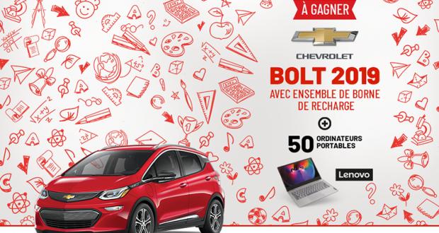 Gagnez une voiture Chevrolet Bolt EV Premier 2019 (52 290$)