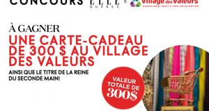 Une carte cadeau de 300$ au Village des Valeurs