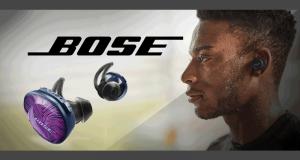 Une paire d'écouteurs Bose SoundSport Free sans fil