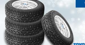 4 chèque-cadeaux de 500$ applicables sur 4 pneus d'hiver TOYO