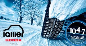 4 pneus d'hiver et installation (Valeur de 1 000 $)