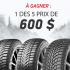 5 prix de 600 $ applicable sur achat de pneus