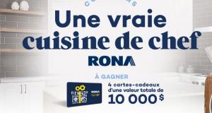Gagnez 1 des 4 cartes-cadeaux Rona de 2500$ chacune