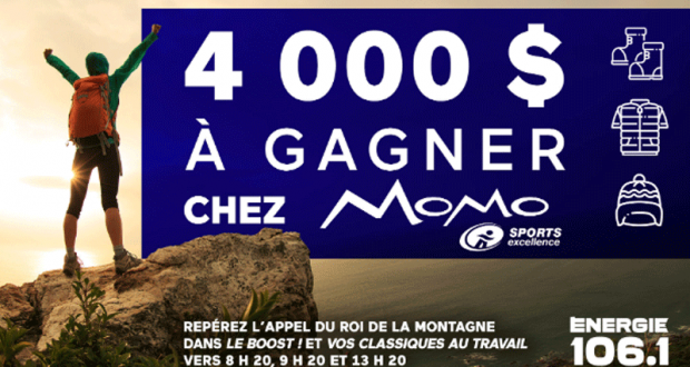 Gagnez 4 000 $ chez Momo Sports
