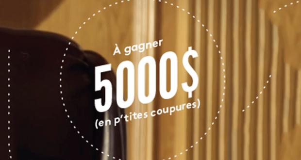 Gagnez 5 000 $ payable sous forme de chèque