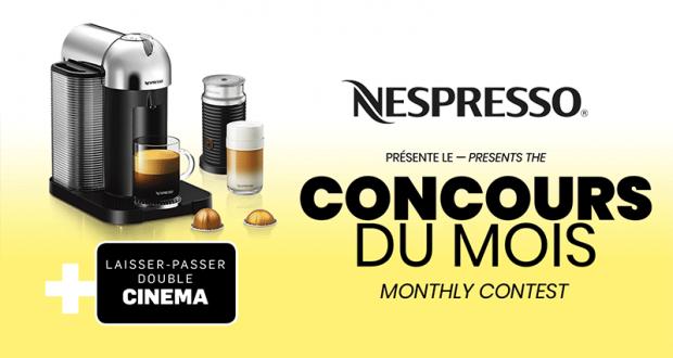 Une machine vertuo Chrome Nespresso + Mousseur à lait