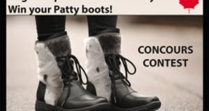 Une paire de bottes Patty offerte par Bilodeau Canada