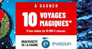 Gagnez 1 des 10 voyages magiques (Valeur de 10 000 $ chacun)