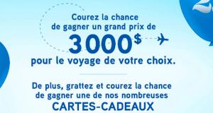 Gagnez 3000 $ pour le voyage de votre choix