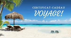 Un certificat-cadeau voyage de 1000$